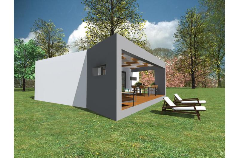 HH-48+16 - Hétvégi ház 48 m2 alapterülettel