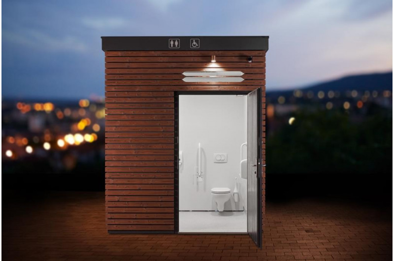 SZP-THW-8 WC épület