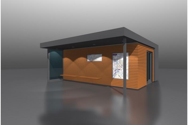 SZT-THW-30+15 - Autóbusz várakoztató és utasváró épület
