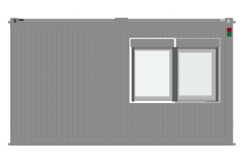 WE-48-CONT - Iroda, vagy büfé konténer épület
