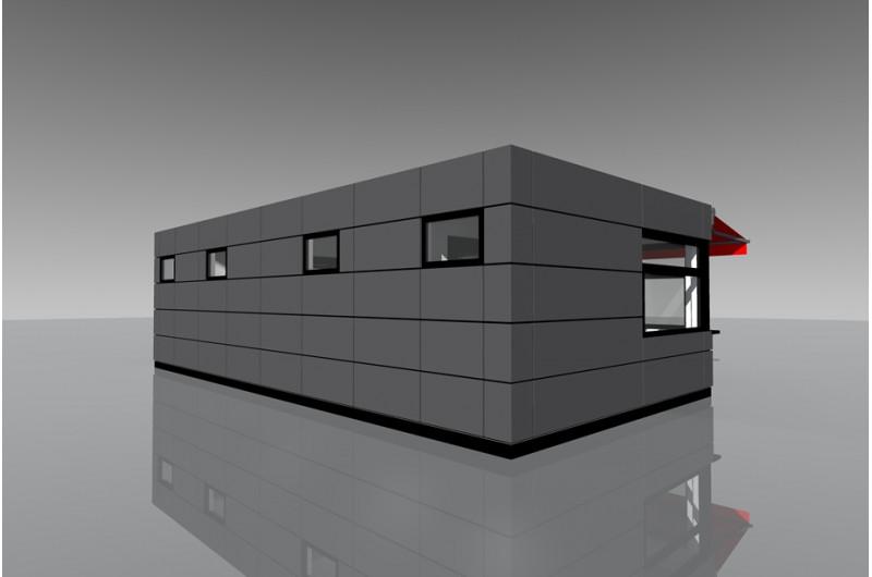 WE-48 Büfé épület
